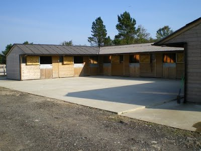 The West Seton stables and yard